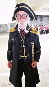 Mahurangi Sunrise Rotary's Chairperson Martin Howson with his best Steampunk outfit