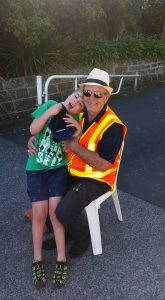 Henderson Rotary President Ian Foster meets one of the Buddy Walk 2017 Participants