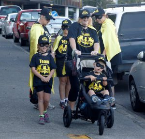 Participants go to a lot of effort and dress up in team uniforms for the walk