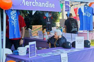 Michael Hope and Pene Burridge were in charge of merchandise sales